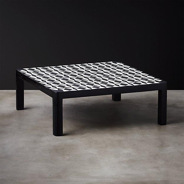 Bergman Black and White Raised Serving Platter