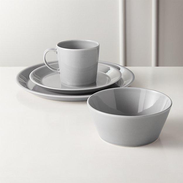 Bernard Grey Dinnerware - Image 1 of 7
