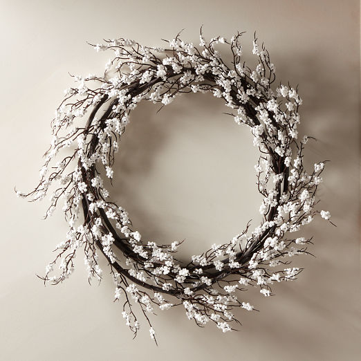 Berry White Wreath 30""