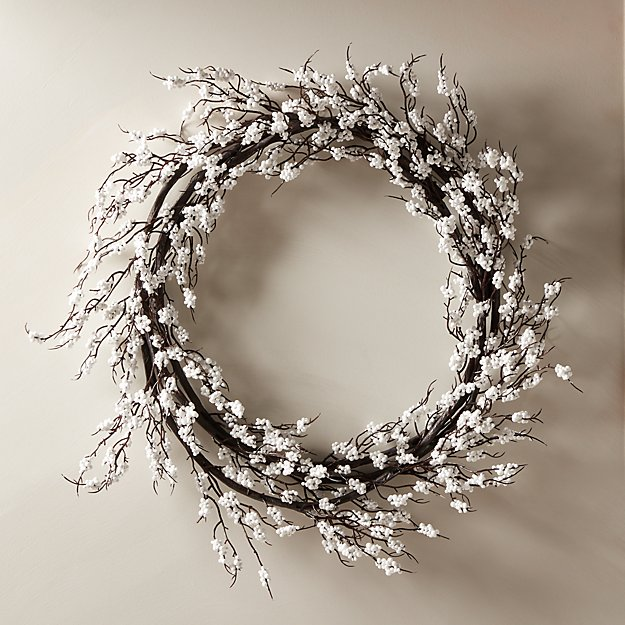 """Berry White Wreath 30"""" - Image 1 of 5"""