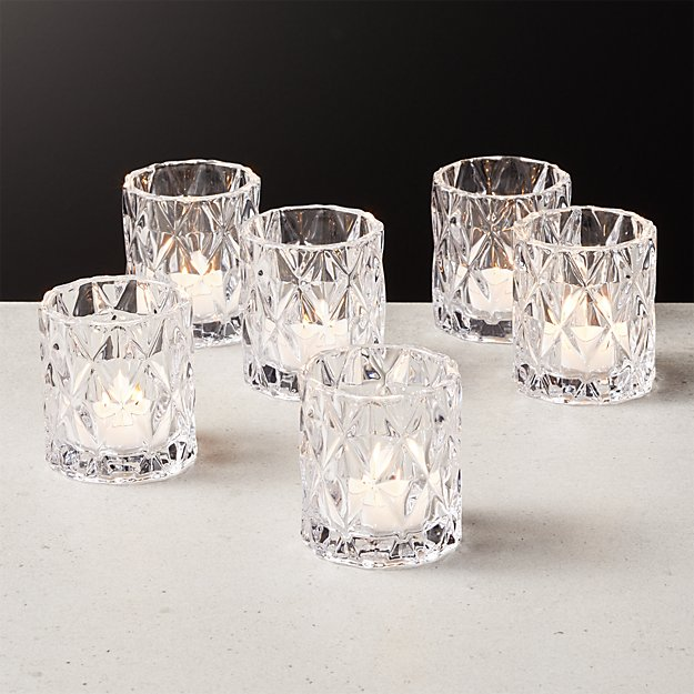 Betty Clear Tea Light Candle Holder Set of 6 - Image 1 of 4