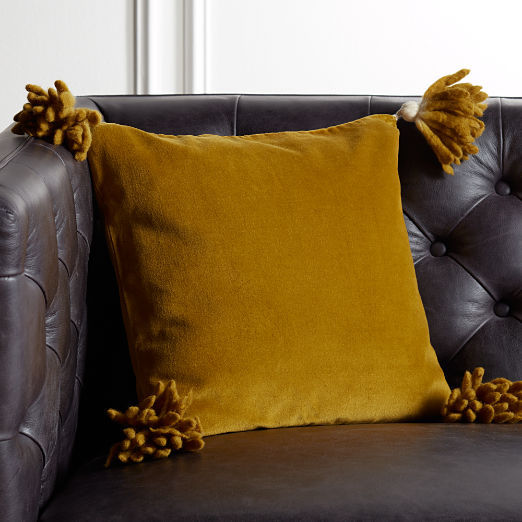 "16"" Bia Tassel Pesto Pillow"