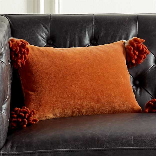 "18""x12"" Bia Tassel Ginger Pillow - Image 1 of 6"