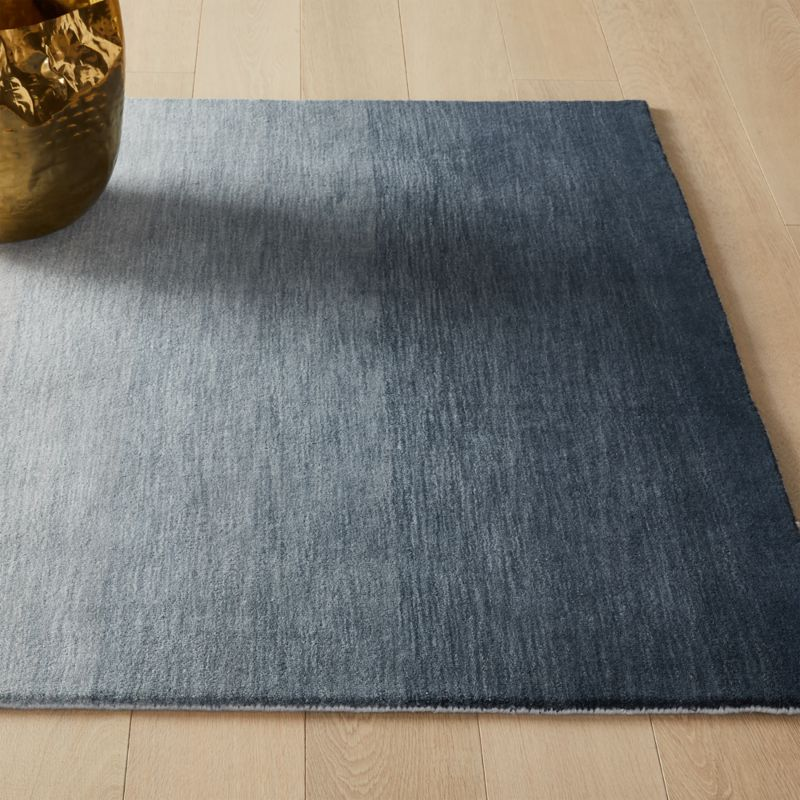 Bicoastal Hand Woven Navy Rug by Crate&Barrel
