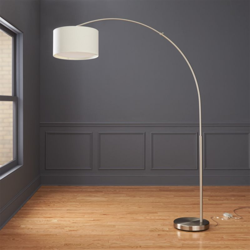 big dipper silver arc floor lamp reviews cb2. Black Bedroom Furniture Sets. Home Design Ideas