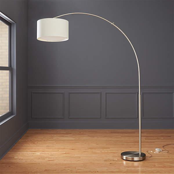 Big Dipper Silver Arc Floor Lamp Reviews Cb2