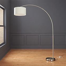 Dipper Arc Brushed Nickel Floor Lamp