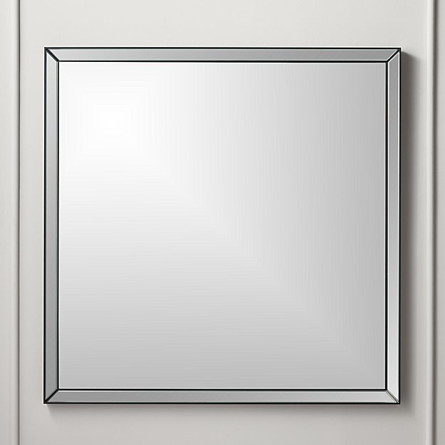 Bisel Beveled Square Mirror Black - Image 1 of 3
