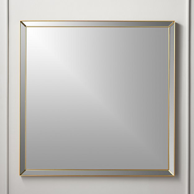 Bisel Beveled Square Mirror Copper - Image 1 of 5