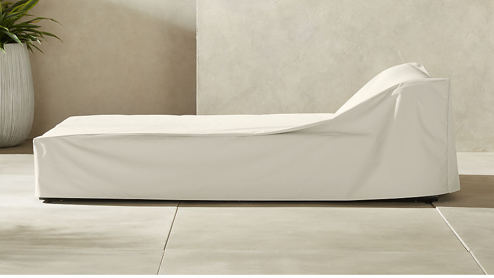 Bizerte Waterproof Outdoor Chaise Lounge Cover Reviews Cb2