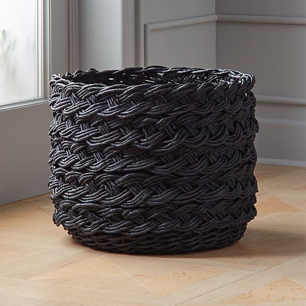 Black Braided Basket - Image 1 of 6