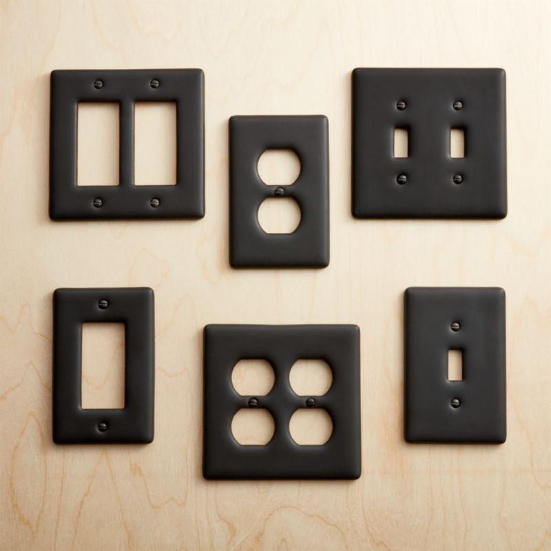 Black Ceramic Wall Plates