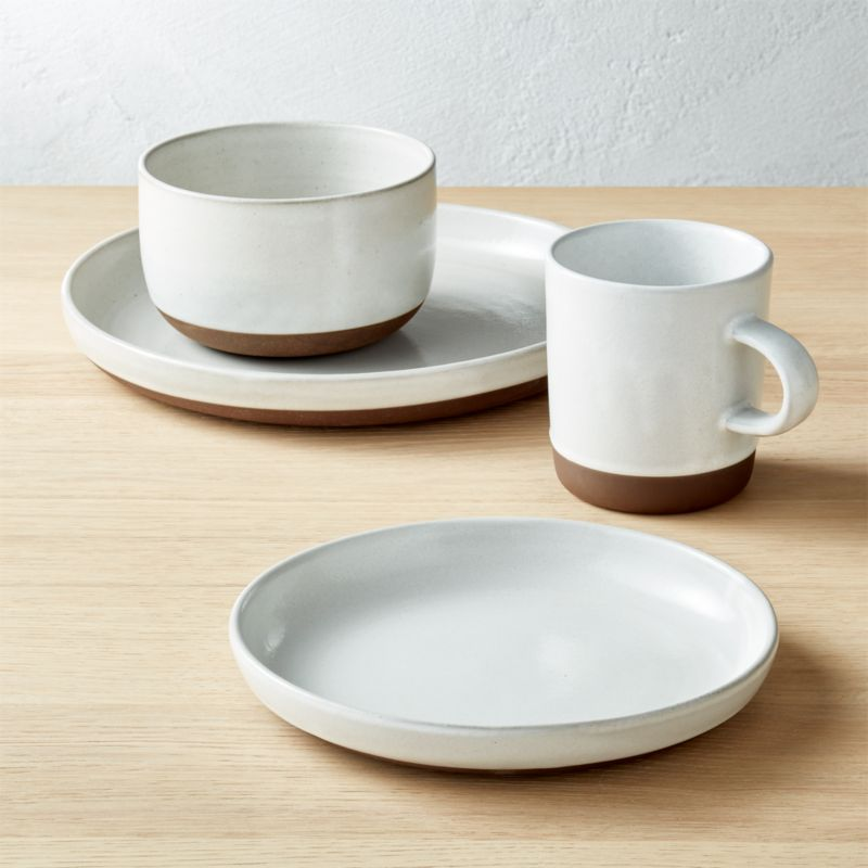 Black Clay 4-Piece Place Setting & dishwasher safe dinnerware | CB2