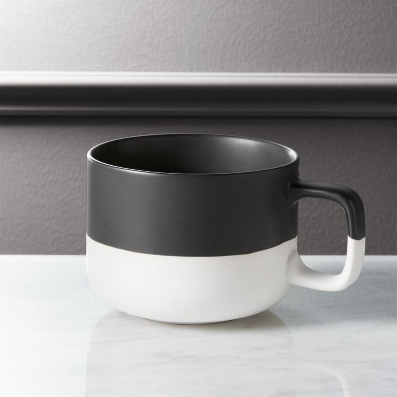 Dip Black And White Coffee Mug