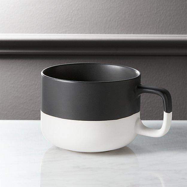 dip black and white coffee mug reviews cb2