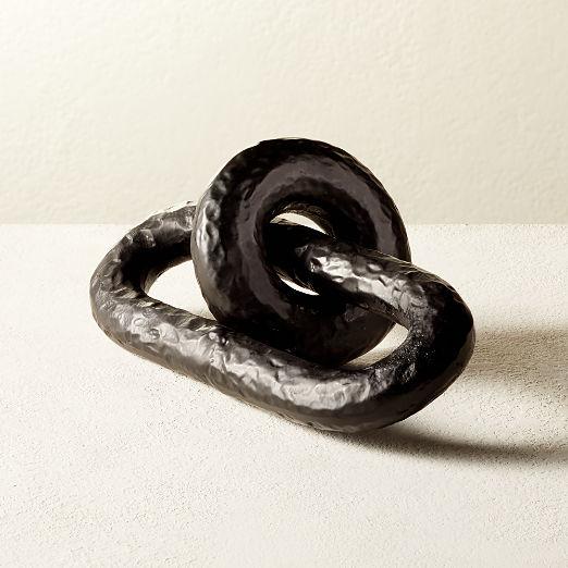Black Link Sculpture