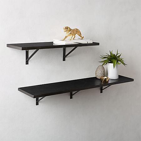 sale retailer 4df3b e1b88 Black Marble Wall Mounted Shelves