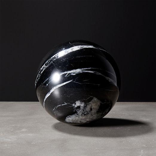 Black Marble Decor | CB2