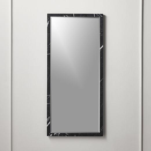 Black Marble Mirror Rectangle