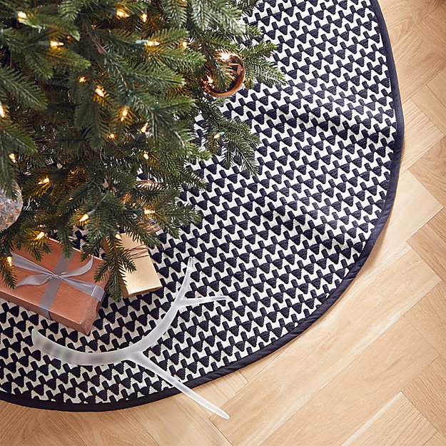 "48"" Black and White Geo Tree Skirt - Image 1 of 3"