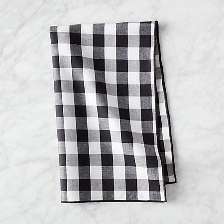 Black and White Gingham Dish Towel