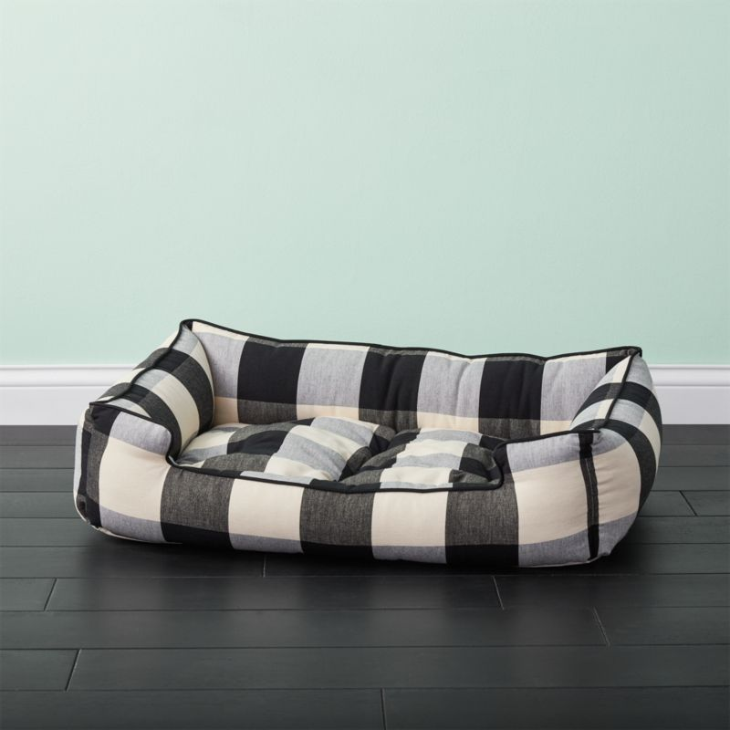 Black And White Sleeper Lounge Medium Dog Bed