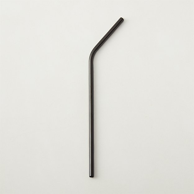 Black Nickel Stainless Steel Straw - Image 1 of 7