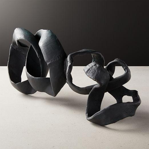 Black Ribbon Sculpture