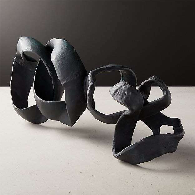 Black Ribbon Sculpture - Image 1 of 5