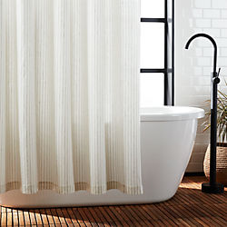 Black Stripe Shower Curtain