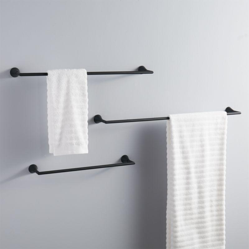 black towel bars CB2