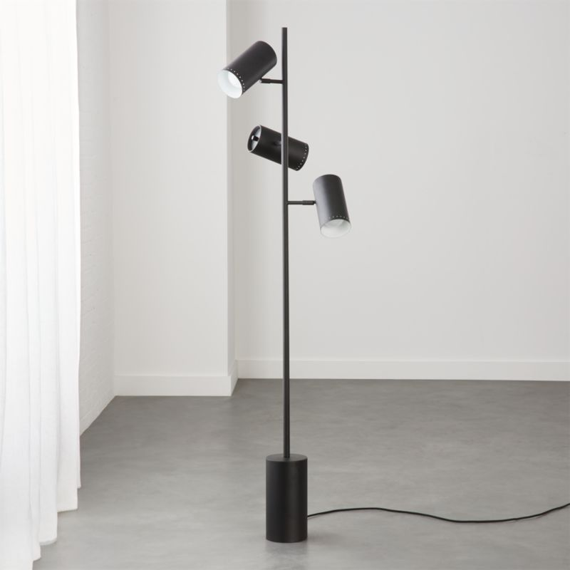Trio Black Floor Lamp Reviews Cb2