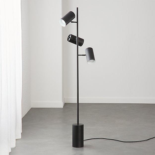 Trio Black Floor Lamp - Image 1 of 7