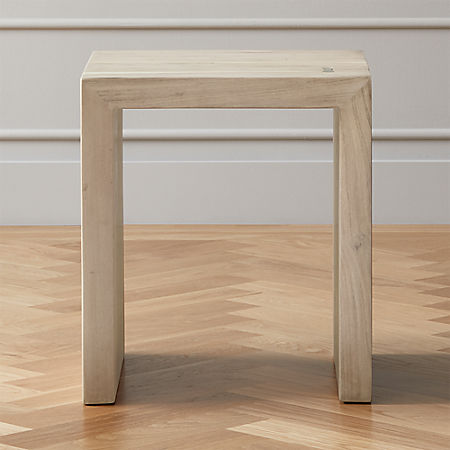 Blanche Bleached Acacia Side Table
