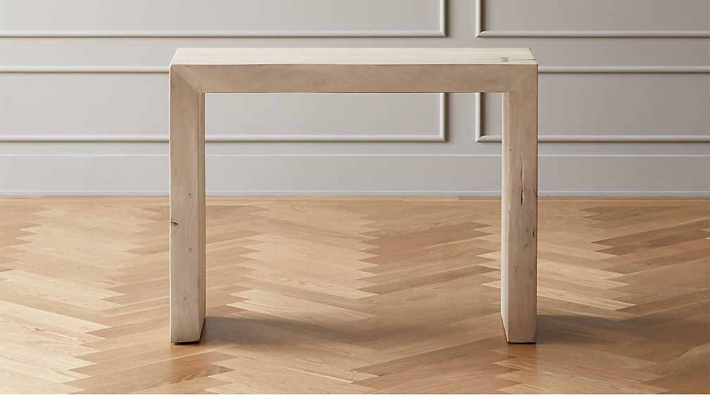 Blanche Bleached Acacia Console Table - Image 1 of 6