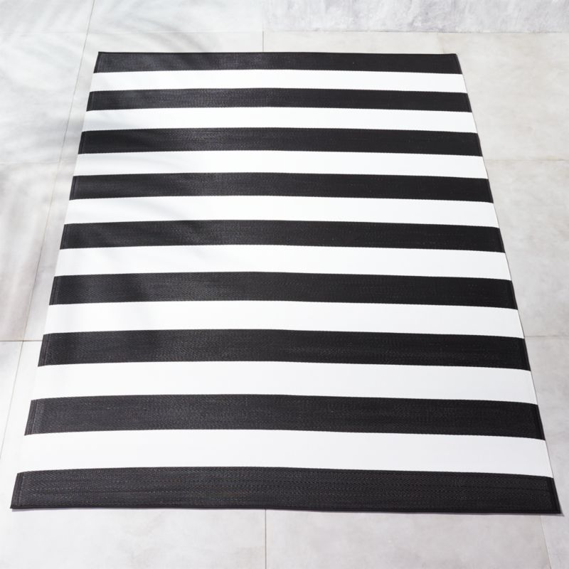 Black and White Outdoor Rug | CB2