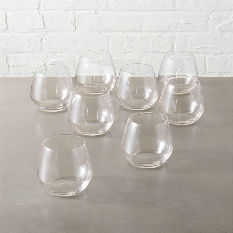 Set Of 8 Blend Stemless Wine Glass Reviews Cb2