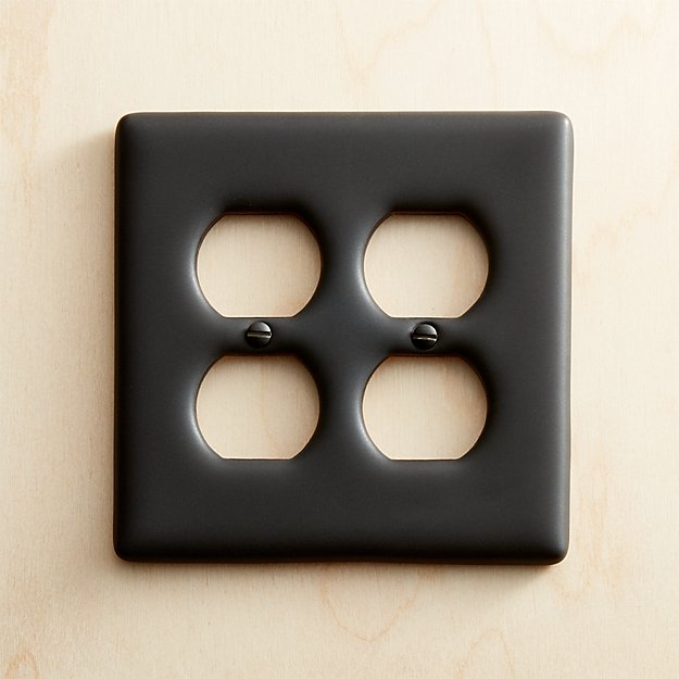 Black Ceramic Double Duplex Plate - Image 1 of 9