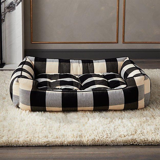 Black and White Sleeper Lounge Large Dog Bed - Image 1 of 12