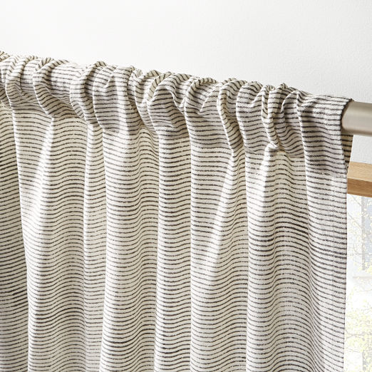 Beau Block Printed Stripe Curtain Panel ...