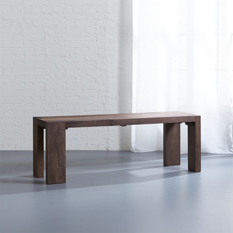 Wood Dining Bench   CB2