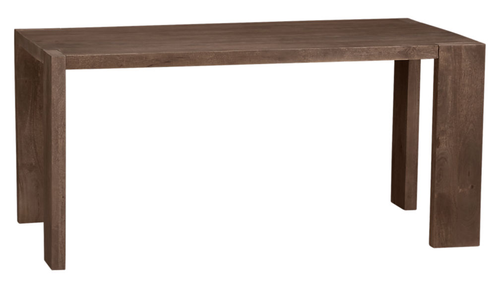 Blox 35x63 Solid Mango Wood Dining Table + Reviews   CB2