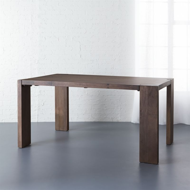 Very Beautiful And Practical Narrow Dining Table Blox 35x63 Dining Table + Reviews | CB2