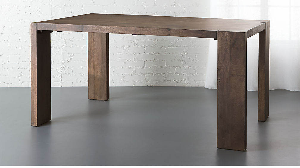 Blox Mango Wood Dining Table Cb2