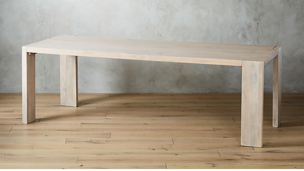 "Blox White Wash Dining Table 35""x91"" - Image 1 of 7"