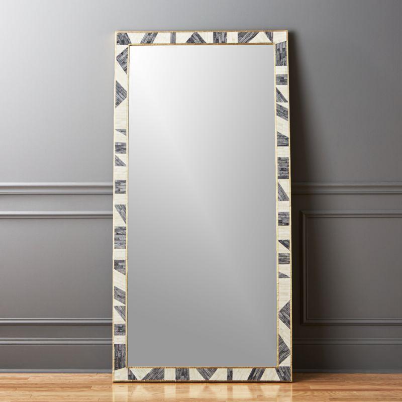 Grace Bone Inlay Floor Mirror 36 X72