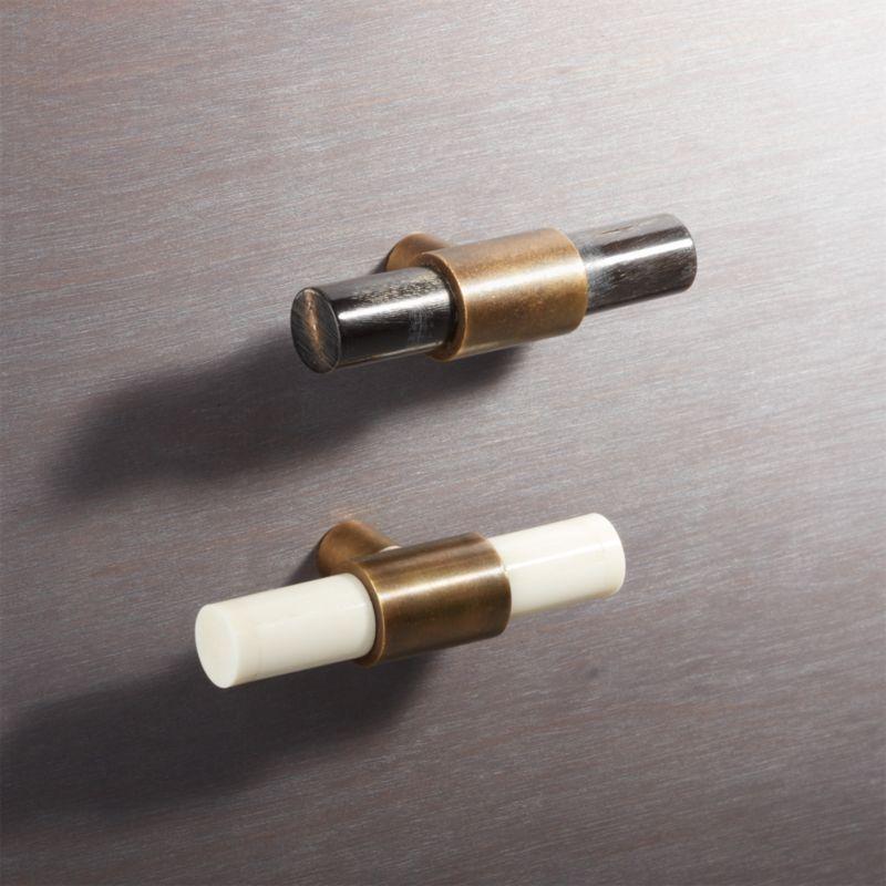 Kitchen Cabinet Knob Location: Horn And Bone Knobs