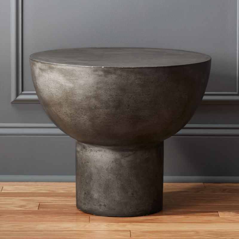 Cement side table Faux Bongo Tall Side Table Cb2 Cement Tables Cb2
