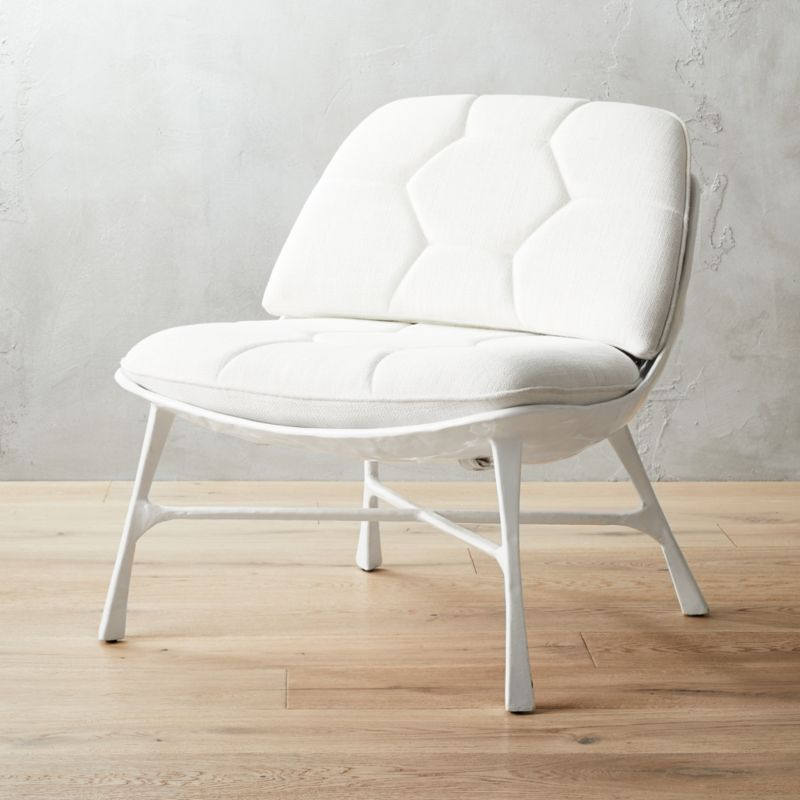 Bordeaux White Chair + Reviews | CB2