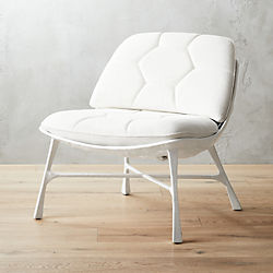 Attrayant Bordeaux White Chair